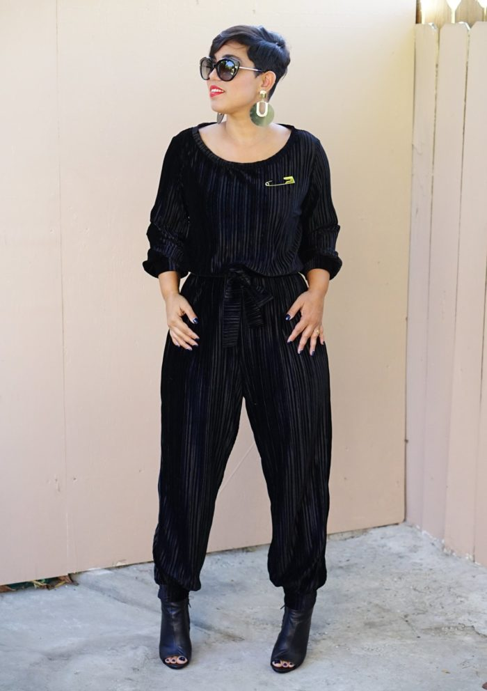 The Lexi by MimiG is a relaxed jumpsuit.