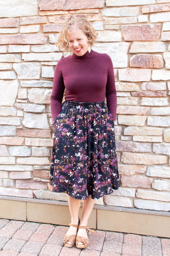 Beginner Pattern Melinda Midi Skirt by Sew Altered Style