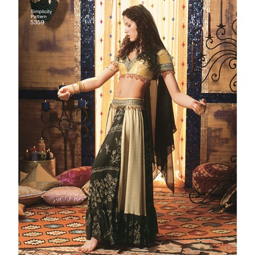 Simplicity 5359 belly dancer costume idea for Halloween 2020