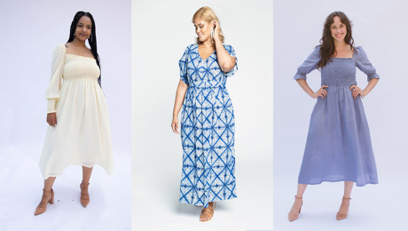 Three styles of cottage core / nap dresses