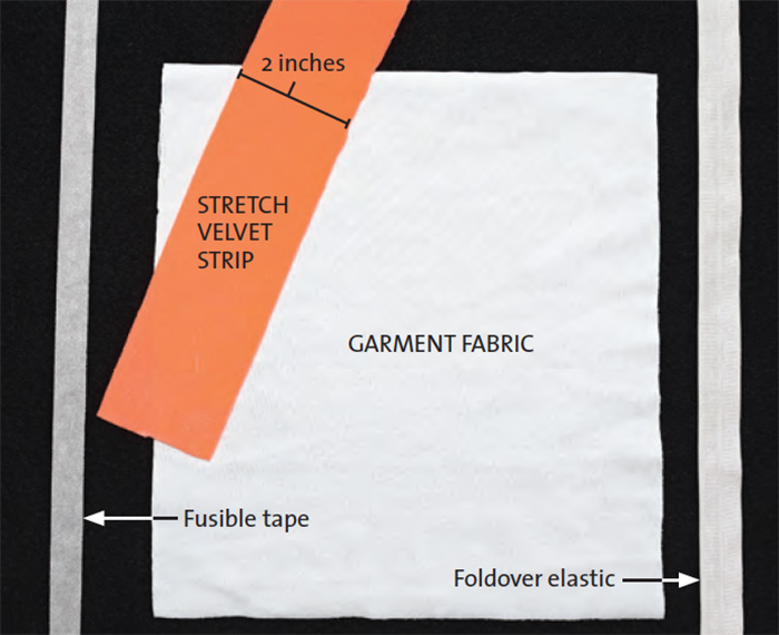 add a stretch band to stretch fabrics