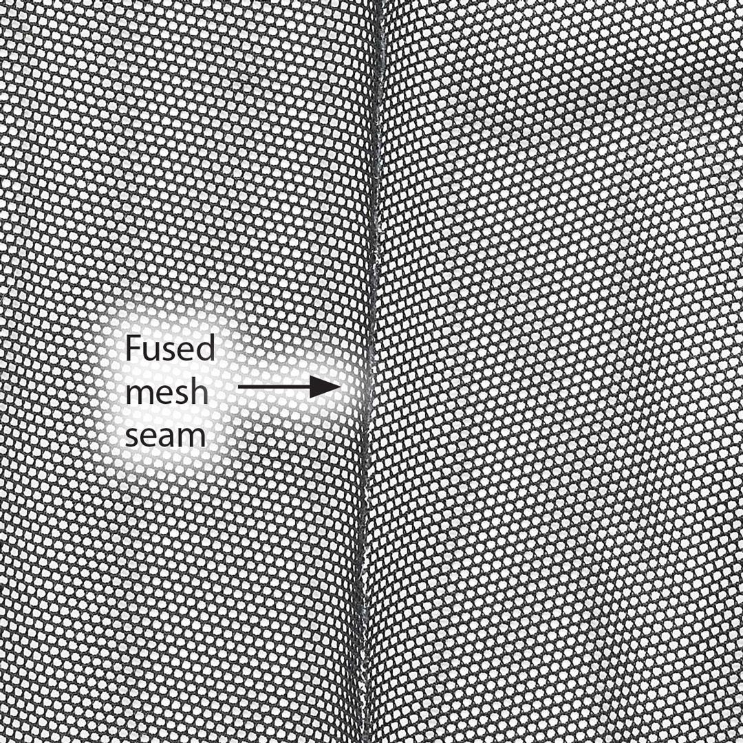 Fused mesh seam