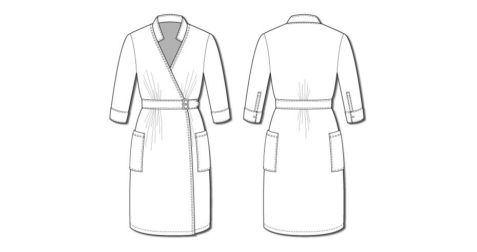 Linda Wrap Dress 2102