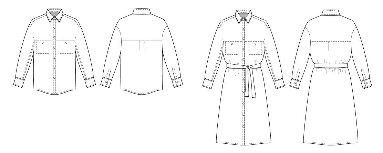 Olya Shirt/Shirt Dress