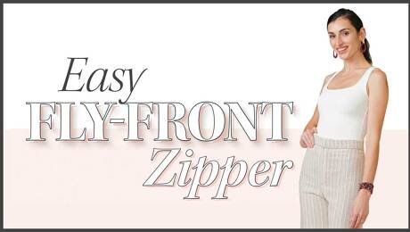 A Step by Step Method to a Front Fly Zipper