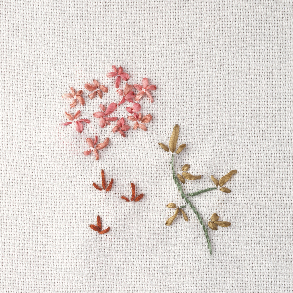 Several examples of how to use a straight stitch.