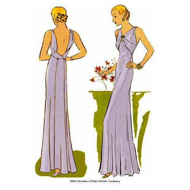 Decades of Style 3301: 1930s Evening Gown