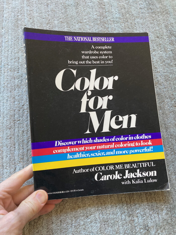 """The book """"Color for Men"""" by Carole Jackson"""