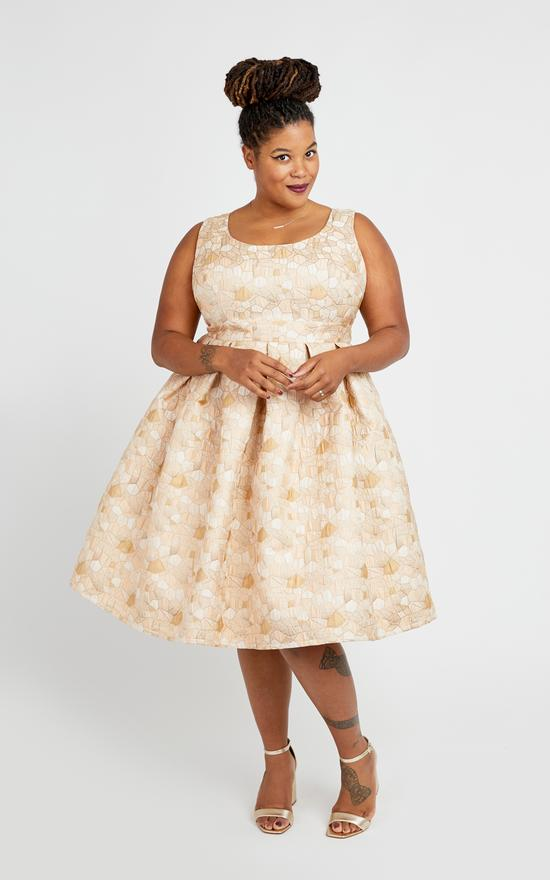Less formal wedding wear option: Cashmerette Upton Dress