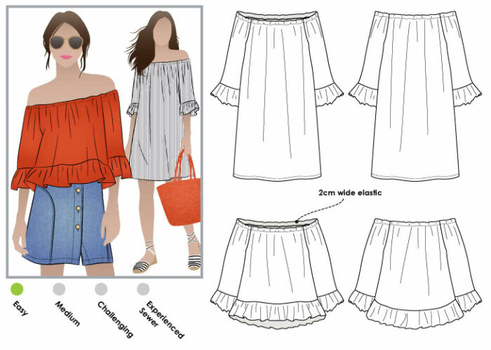 Cold-shoulder alternative is the Style Arc Ellie-Mae