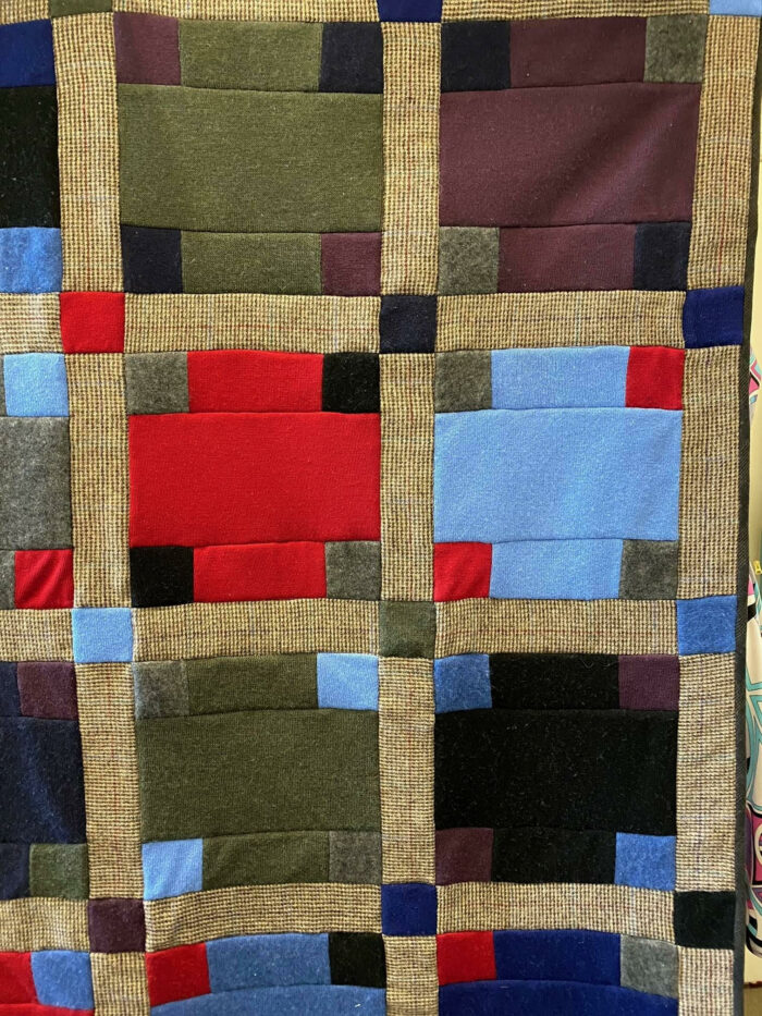 Blocks from the cashmere throw quilt