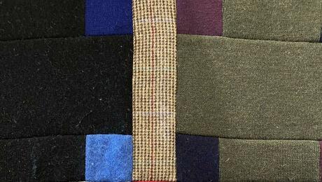 Up close of Cashmere throw quilt