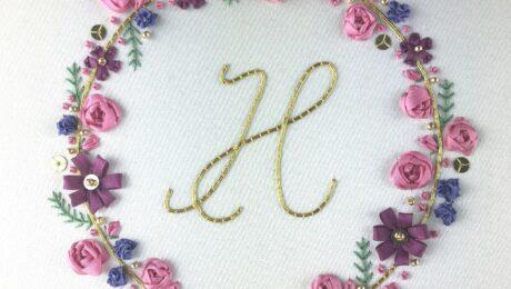 Ribbonwork Floral Monogram