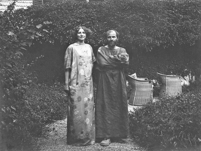Emilie Flöge with Gustav Klimt