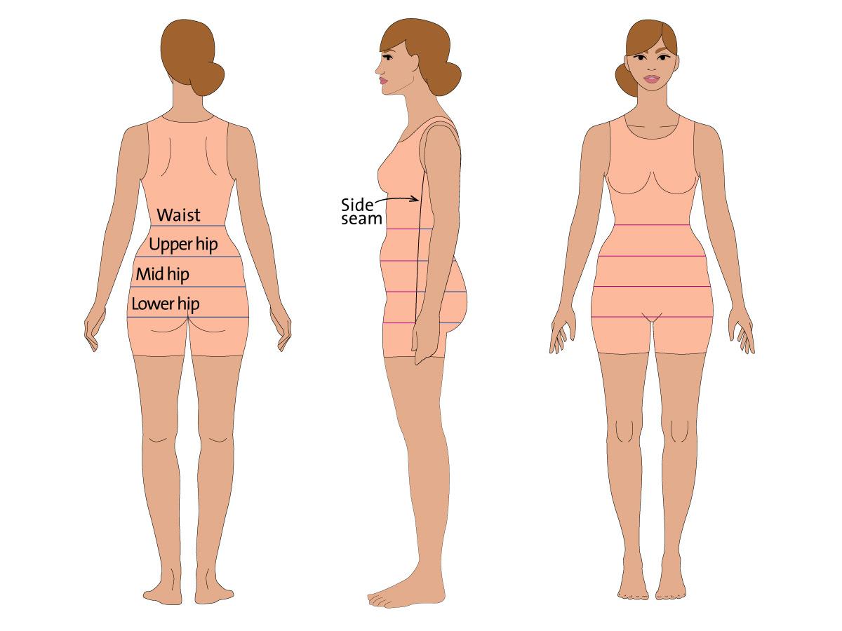 Half body measurements