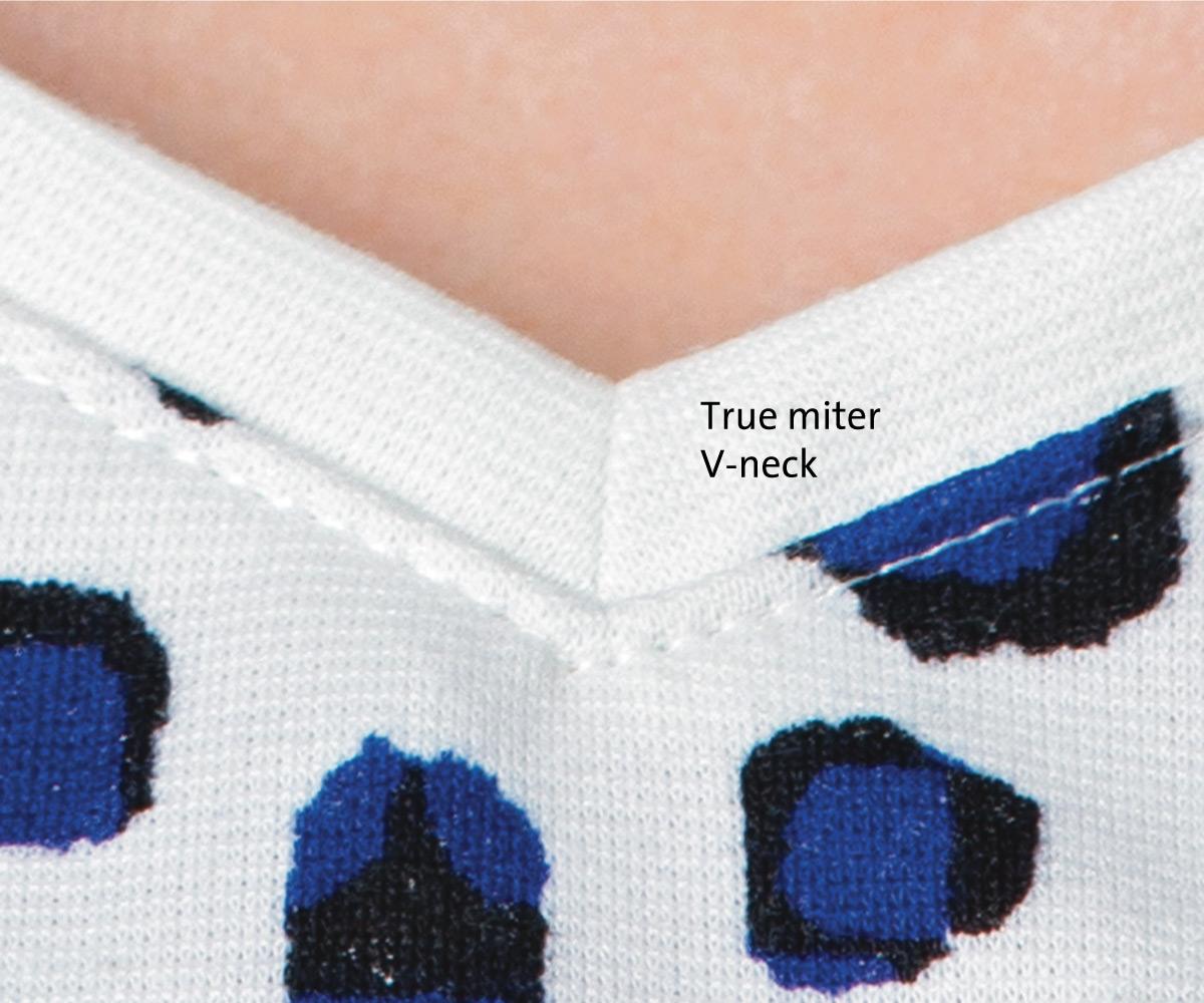 true miter v-neck