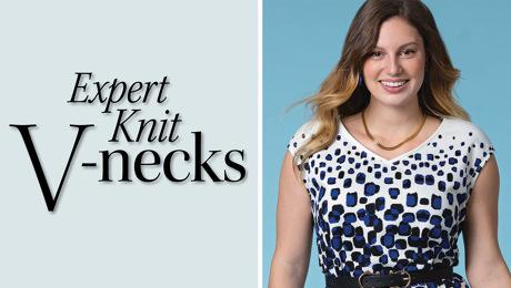 v-necklines in knits