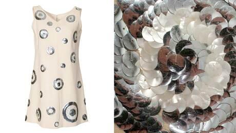 Attach sequin trim by hand or machine