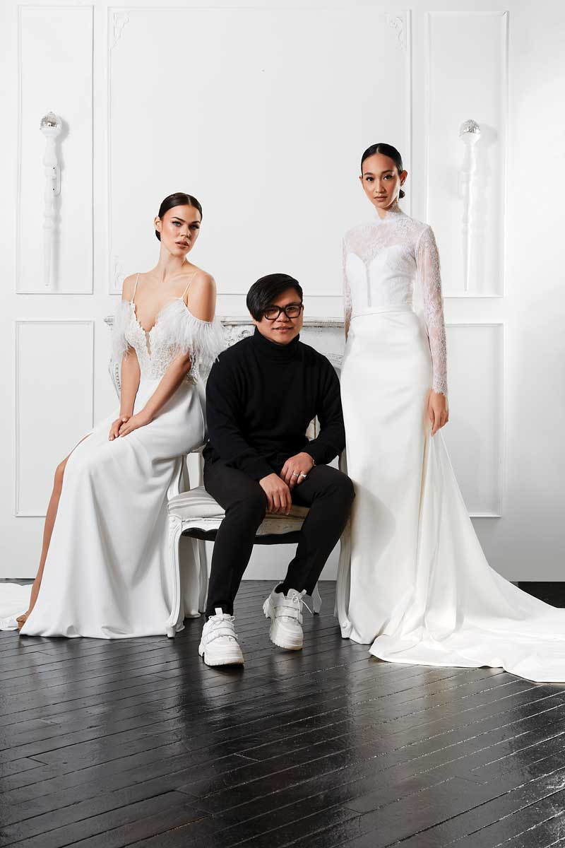 Jude Jowilson specializes in couture-quality bridal gowns, handcrafted in his New York City studio.