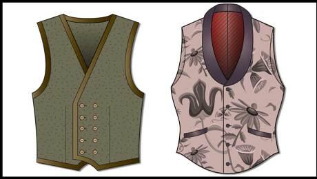 Fitting a vest to an asymmetric body