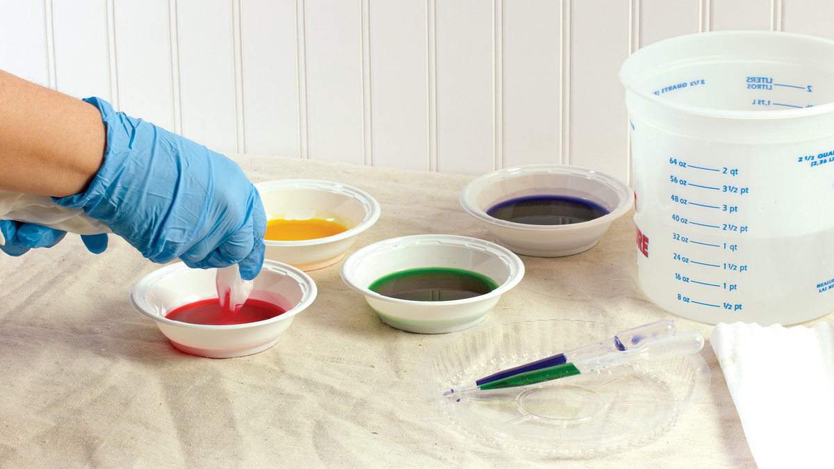 Careful preparation ensures that the dyes remain unmuddied and that they go only where you want them to.