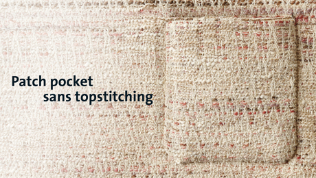 Attach a patch pocket without visible stitches