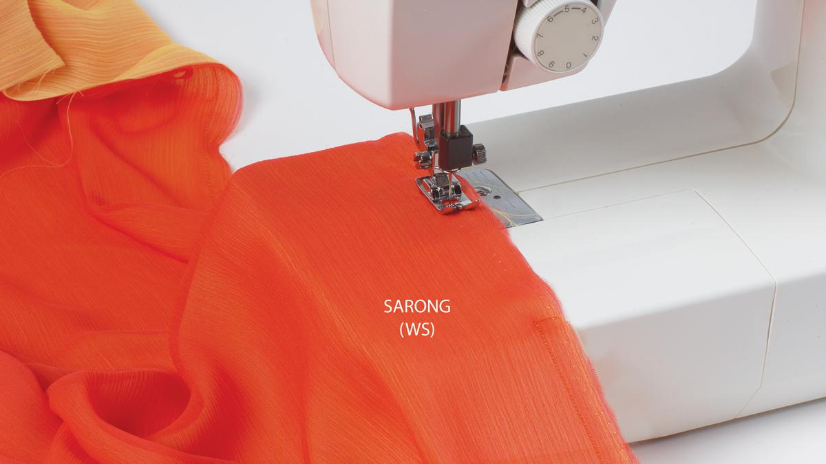 Assemble the sarong.