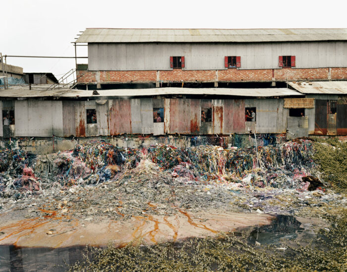 Pollution caused by the fashion industry.
