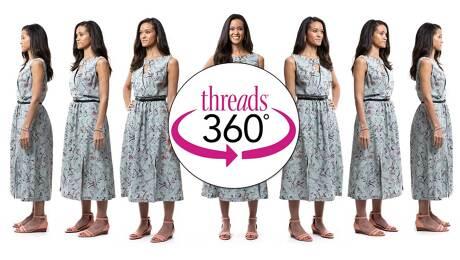 Sleeveless Summer Dress | 360-Degree View