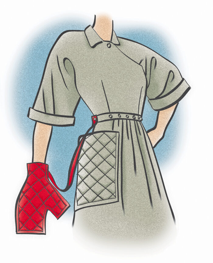 Color illustration of the Claire McCardell Popover dress
