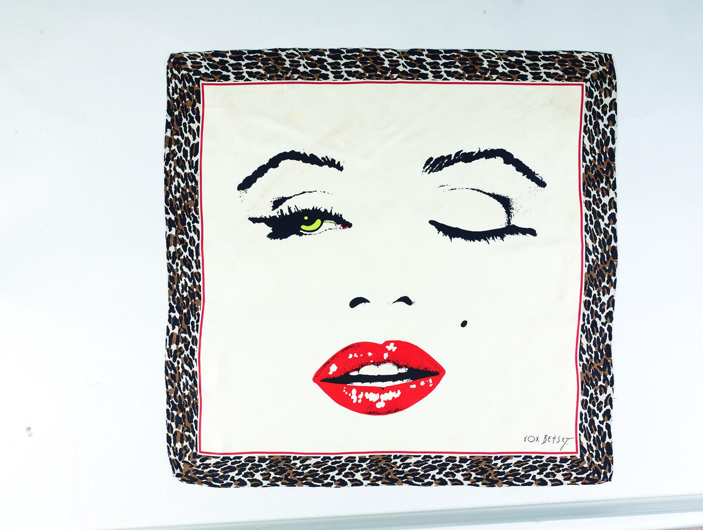 Vintage scarves: Betsey Johnson silk twill scarf