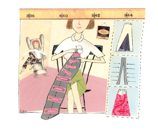 Mom to the Rescue sewing essay illustration