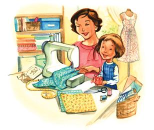 Sewing Room Envy illustration by Karen Lee
