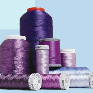Machine-embroidery thread fiber types
