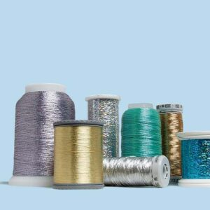 Metallic thread fiber