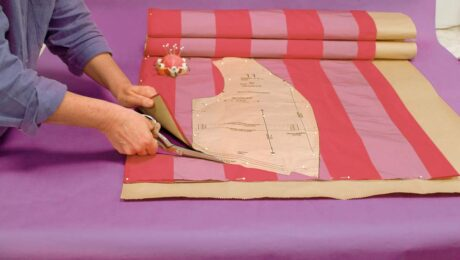Lay out fabric and cut it