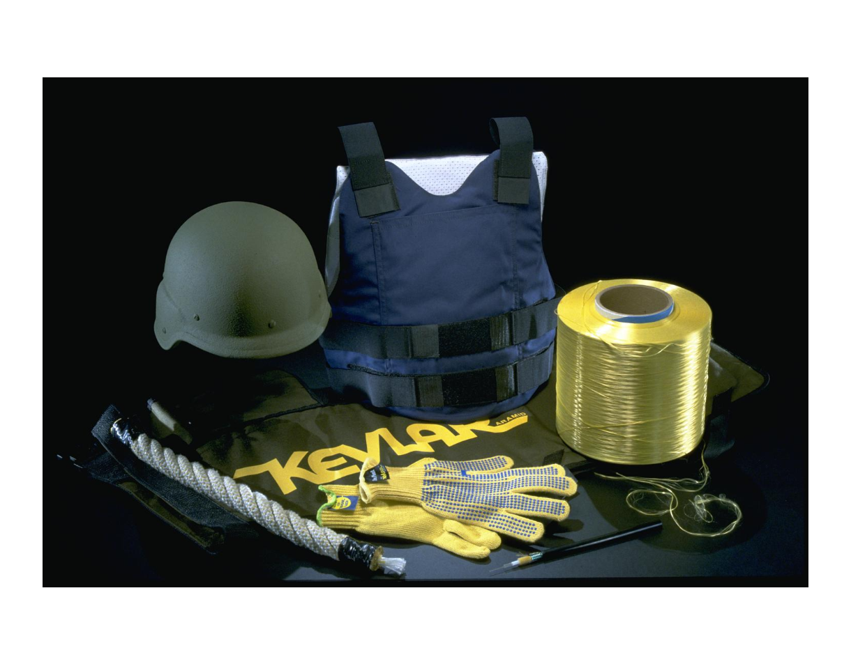 Kevlar products on display