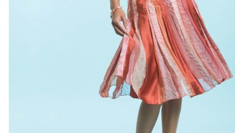 Design a Chic, Flowing Skirt with Fabric Strips