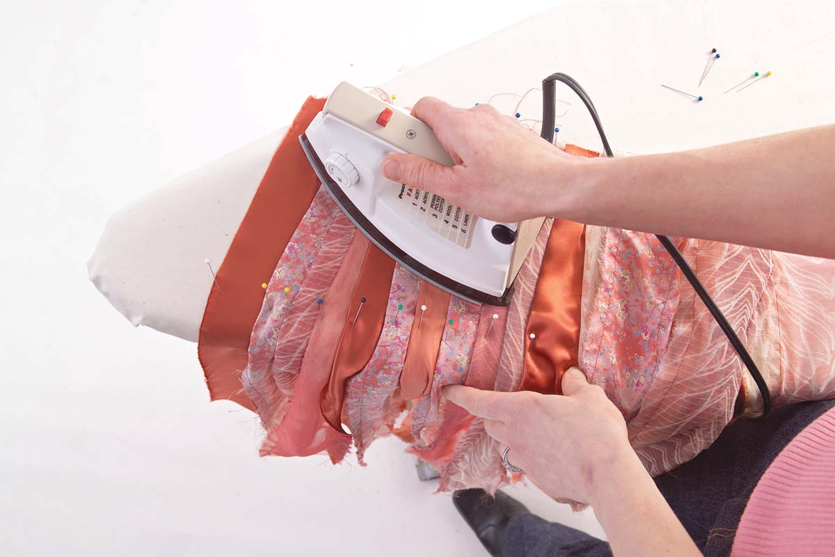 pressing the fabric