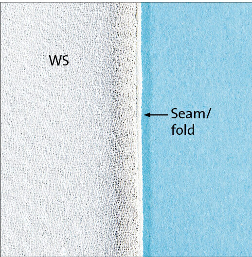 Press the trimmed seam allowances to one side.