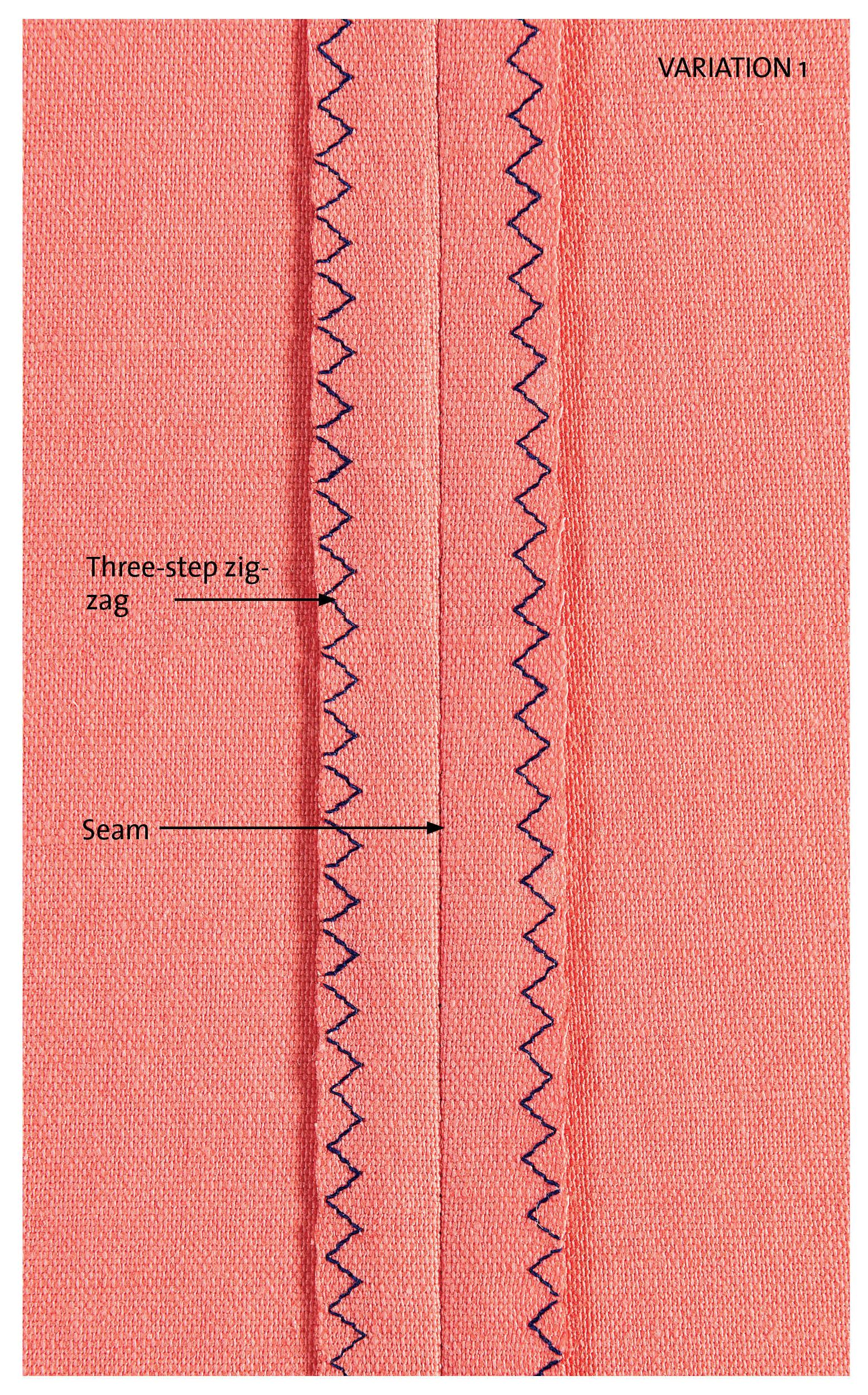 three-step zigzag stitch