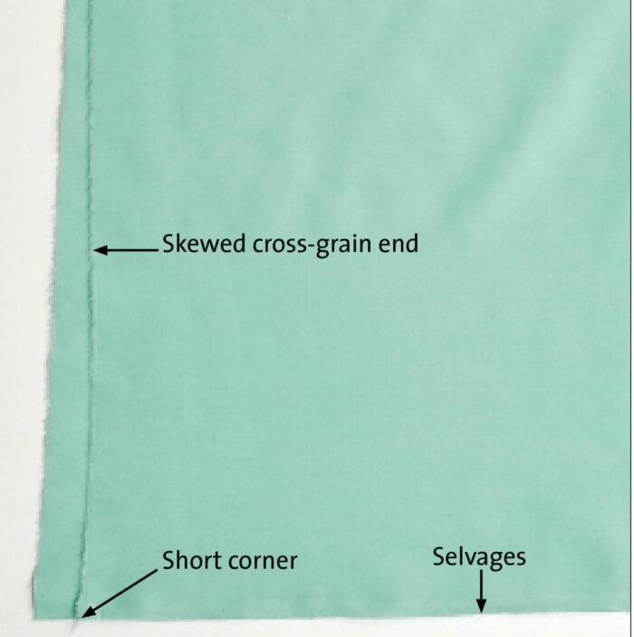 skewed fabric correction