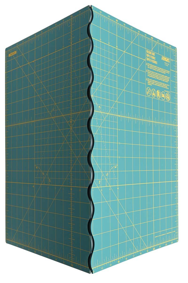 Olfa folding rotary cutting mat, 17 inches by 24 inches, $56.25 (BuyOlfa.com).