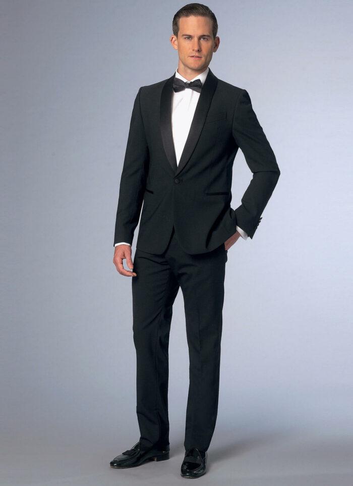 Vogue Shawl Collar Tuxedo Jacket and Pants