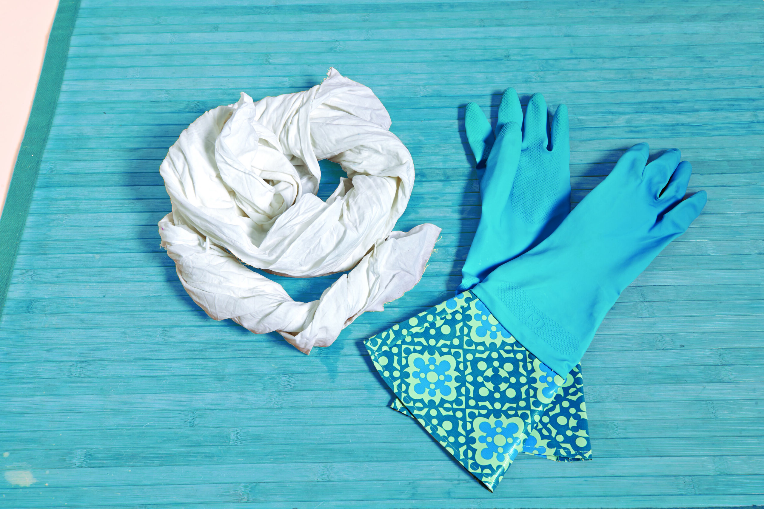 Protective gloves and fabric