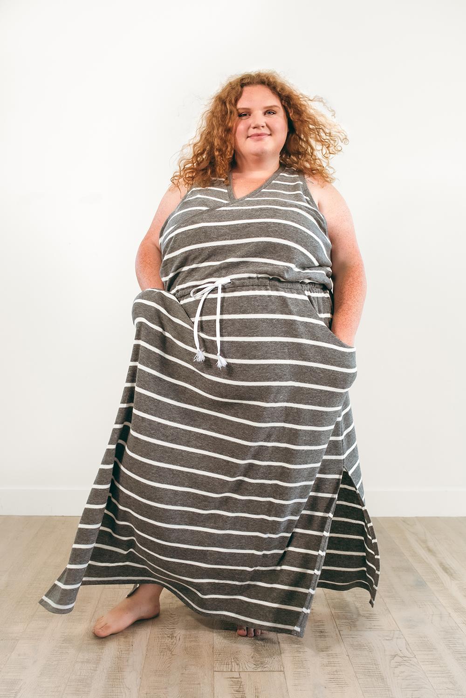Extended size DIBY Helen Drawstring Dress