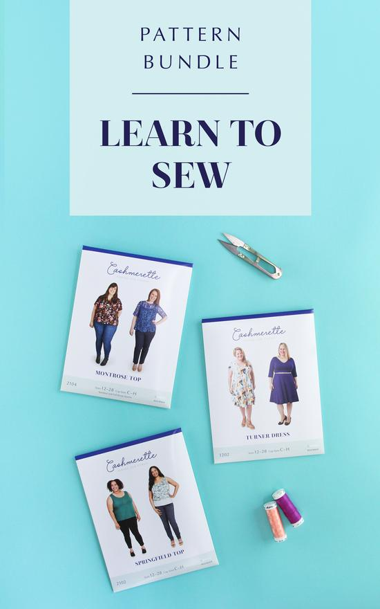 Extended size Cashmerette Learn to Sew Bundle