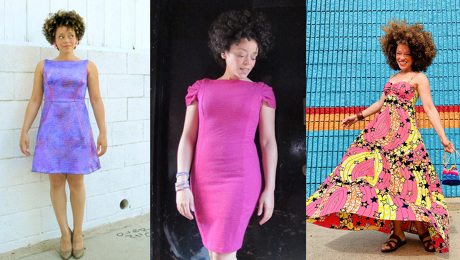 Marcy Harriell in three different dresses