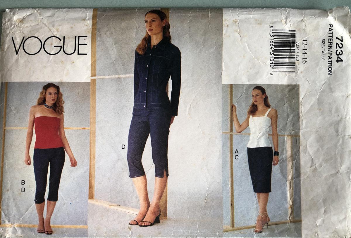 Vogue 7234, Pamela Howard's favorite jean jacket pattern