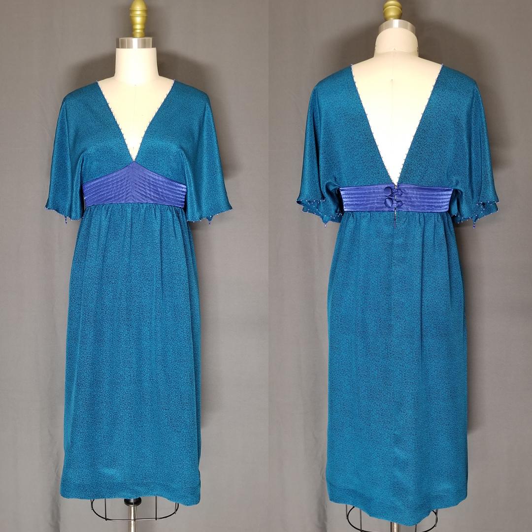 Muniz dress designed in the image of Zandra Rhodes design